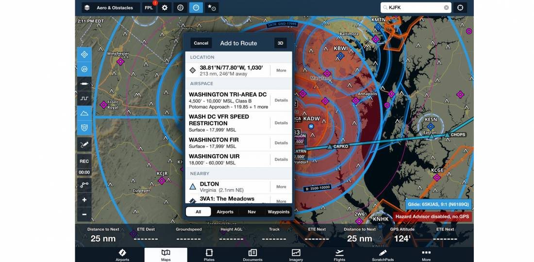 ForeFlight frequencies