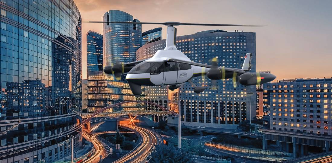 Jaunt Air Mobility is targeting test flights of its Journey eVTOL aircraft in 2023, followed by production and entry into service in 2026.
