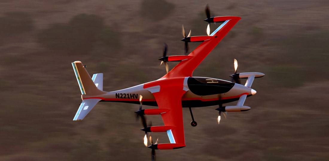 Kitty Hawk's Heaviside eVTOL aircraft is aimed at the market for cargo delivery, emergency medical services, and military logistics. Boeing is an investor in Kitty Hawk.