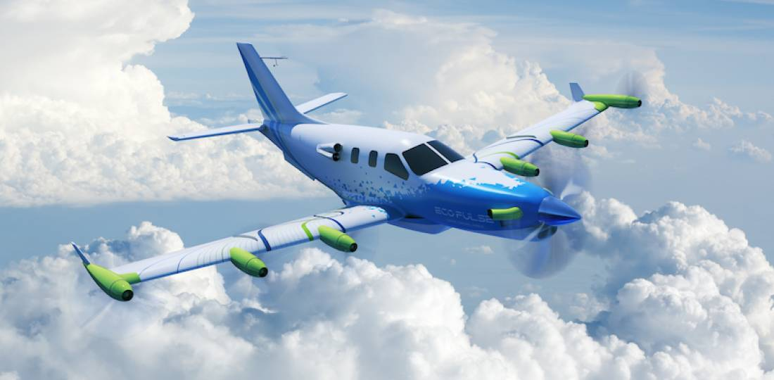 EcoPulse electric business airplane