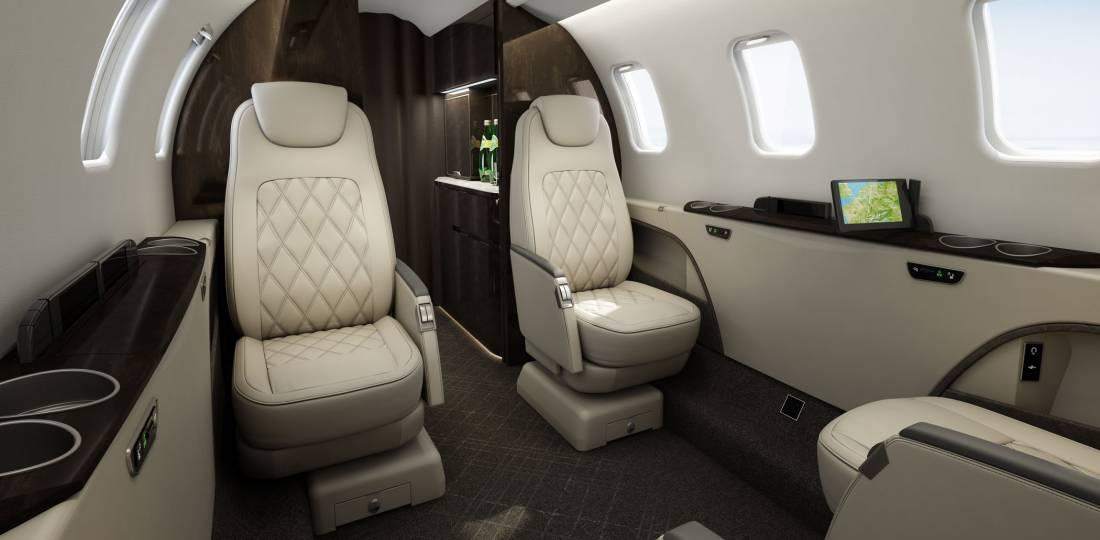 Learjet 75 interior