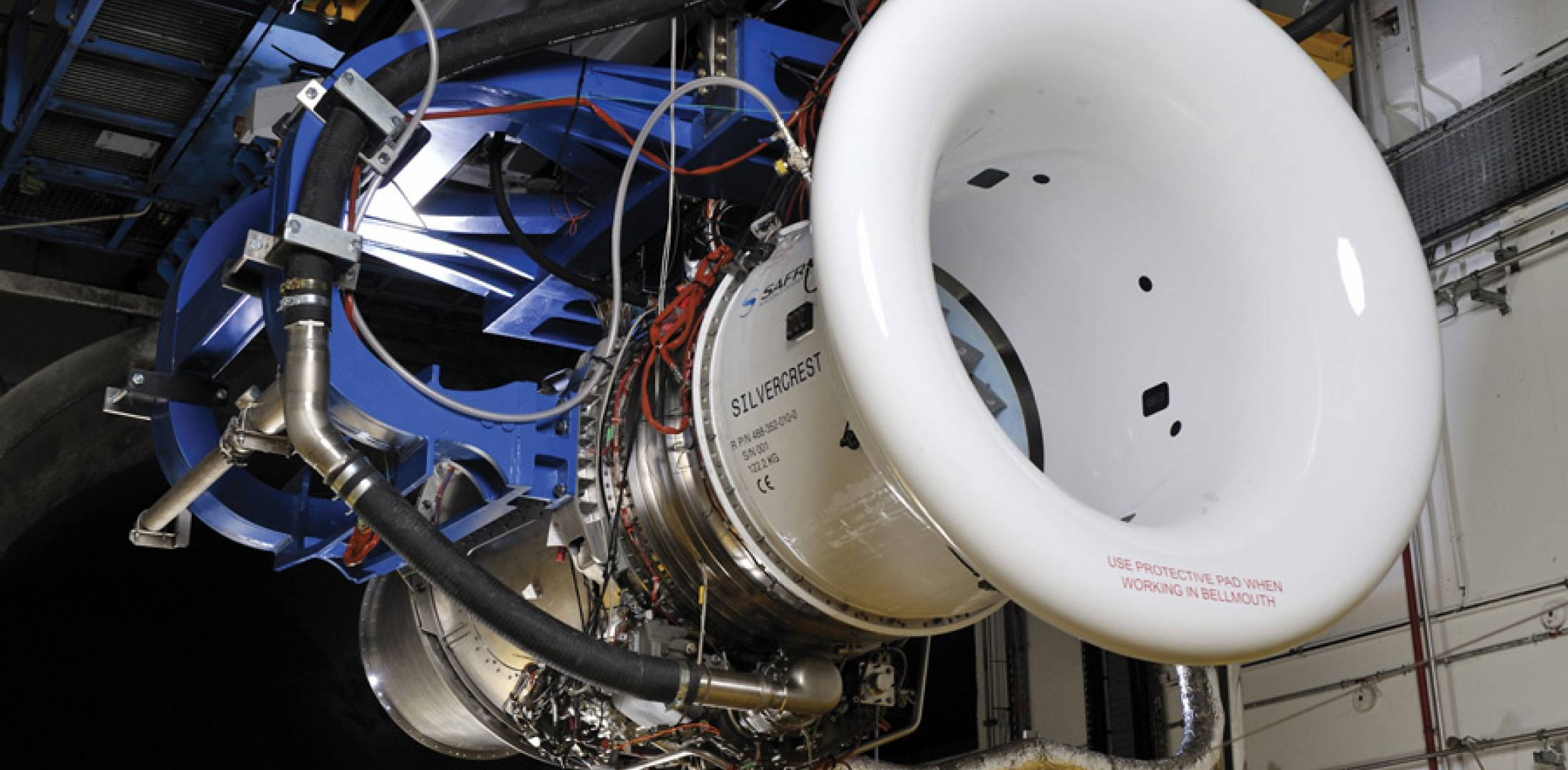 The Silvercrest turbofan, which is to power the Cessna Longitude, was run for the first time on Snecma's testbed in Villaroche, near Paris in September.