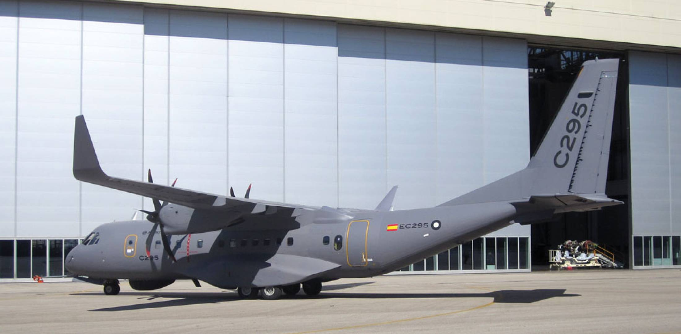 Airbus Military formally launched the C295W marketing effort just before the Paris show. Once certified, this will become the baseline production aircraft.
