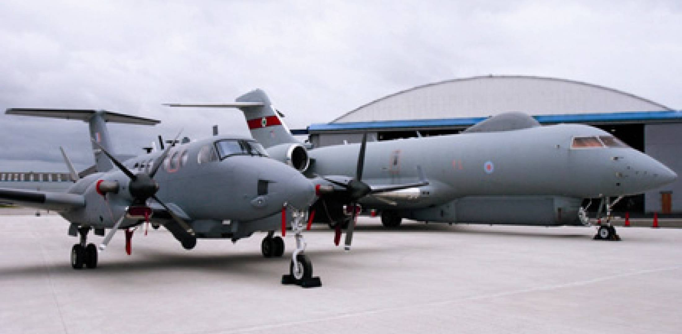 The Royal Air Force's No 5 Squadron operates five RSL Sentinel surveillance j...