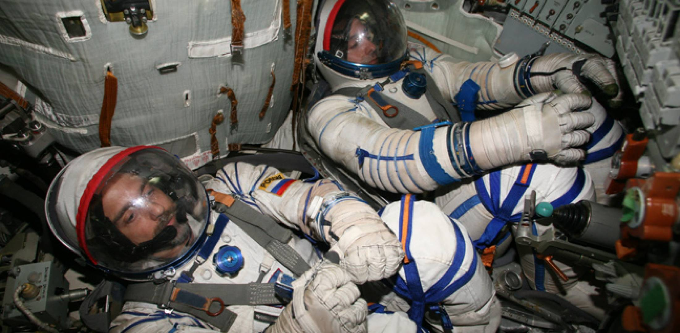 Garriott (l.) made it into space but not by the way he originally planned.