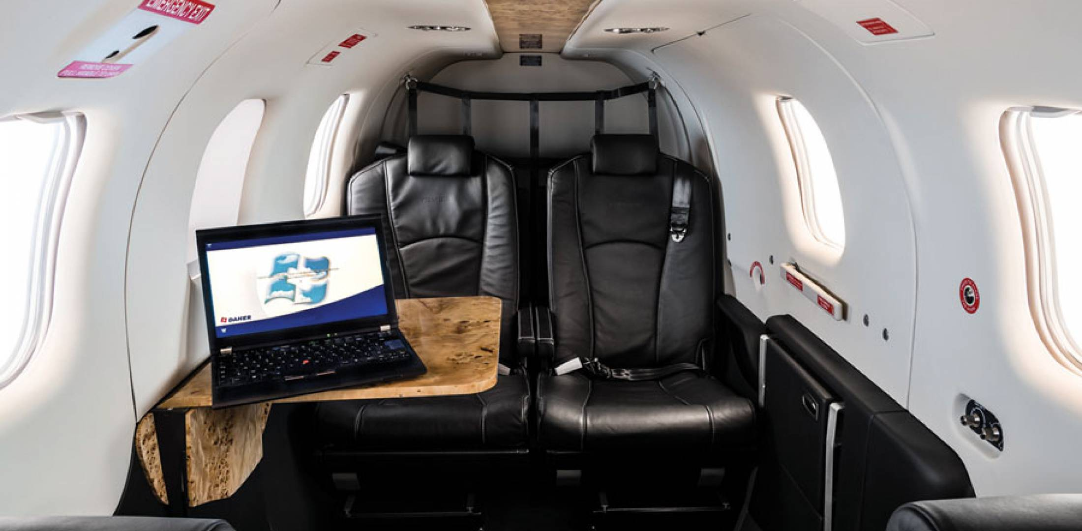The 2013 edition of the TBM 850 Elite features a special cabin equipment package and a deluxe leather interior, as well as reconfigurable and removable seats. T