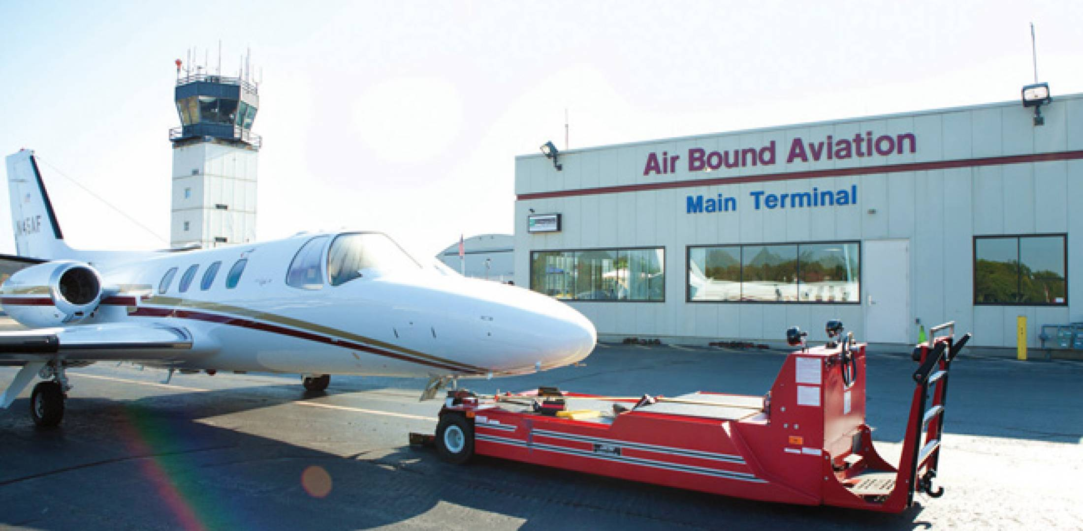 Essex County Airport is ideally suited for turboprops and small jets. Air Bound Aviation is planning a minor refurbishment of its facility.