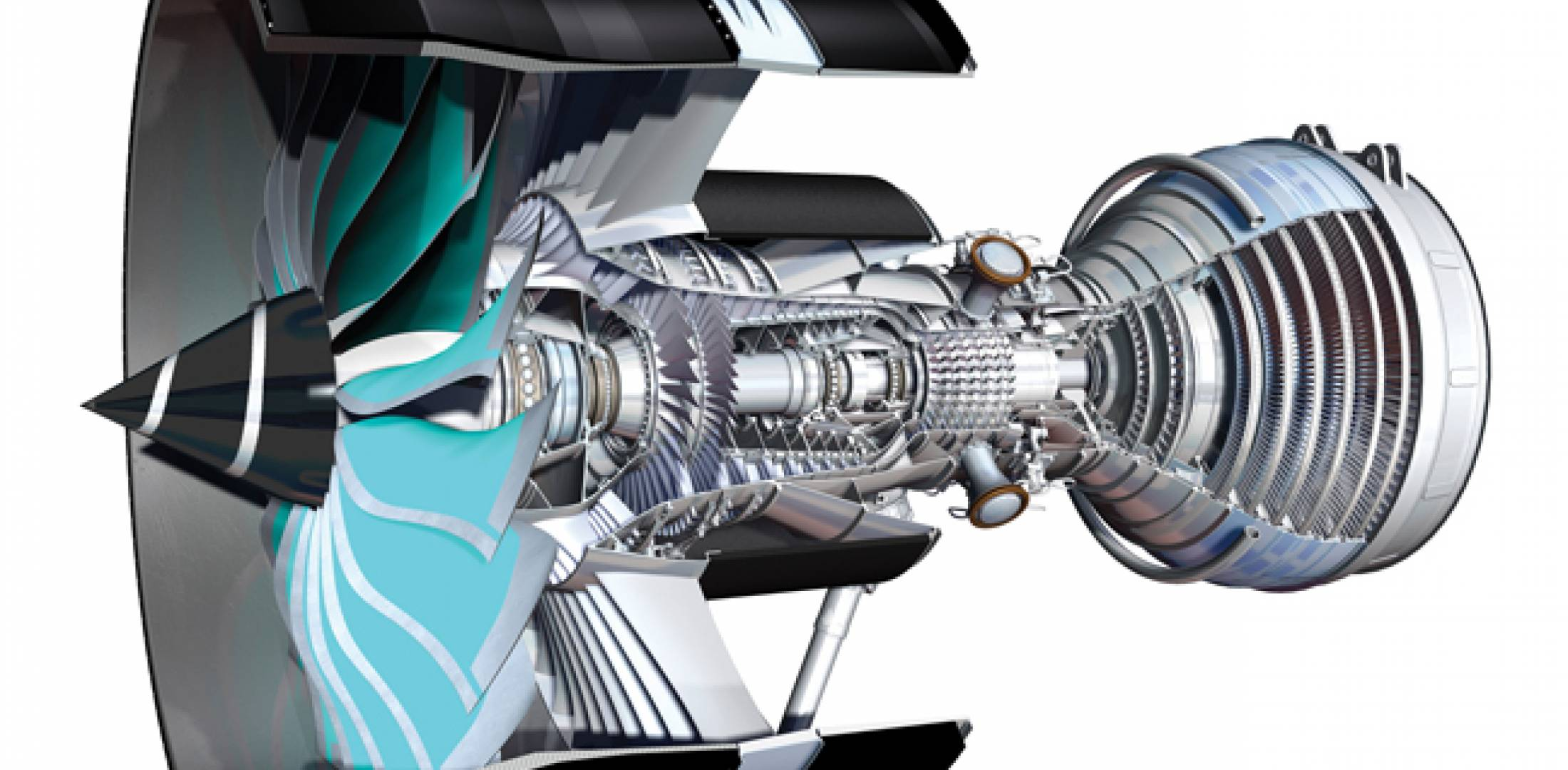 """Titanium-aluminide low-pressure turbine blades and proposed cooling arrangements on Rolls-Royce's proposed future UltraFan engine may owe much to the RB3025 powerplant unsuccessfully offered to power the Boeing 777X. For example, the RB3025 featured a """"vortex amplifier"""" to simplify turbine-blade cooling with HPC air."""