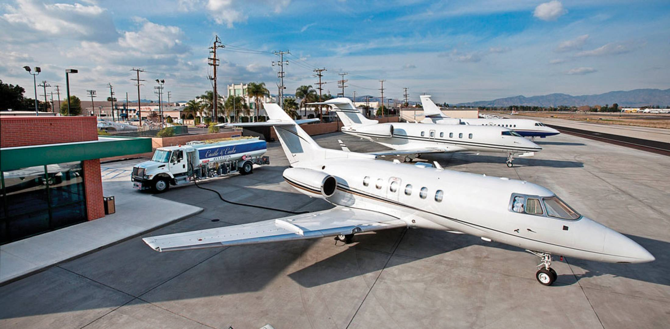 The new ramp at Castle & Cooke's Van Nuys, California FBO will be even busier once Customs service returns to the airport, expected by midyear.