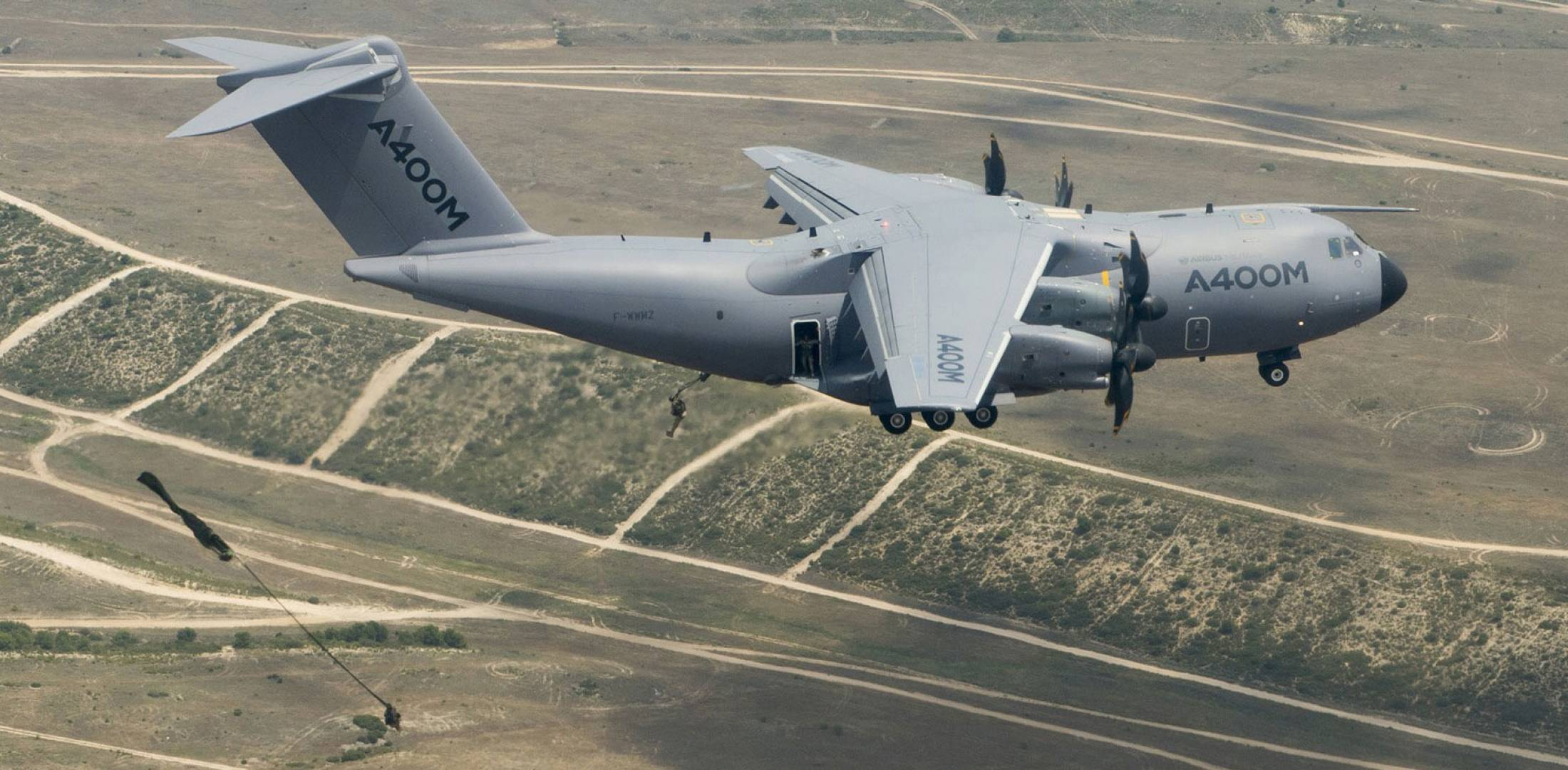 A400M used in paratroop dropping