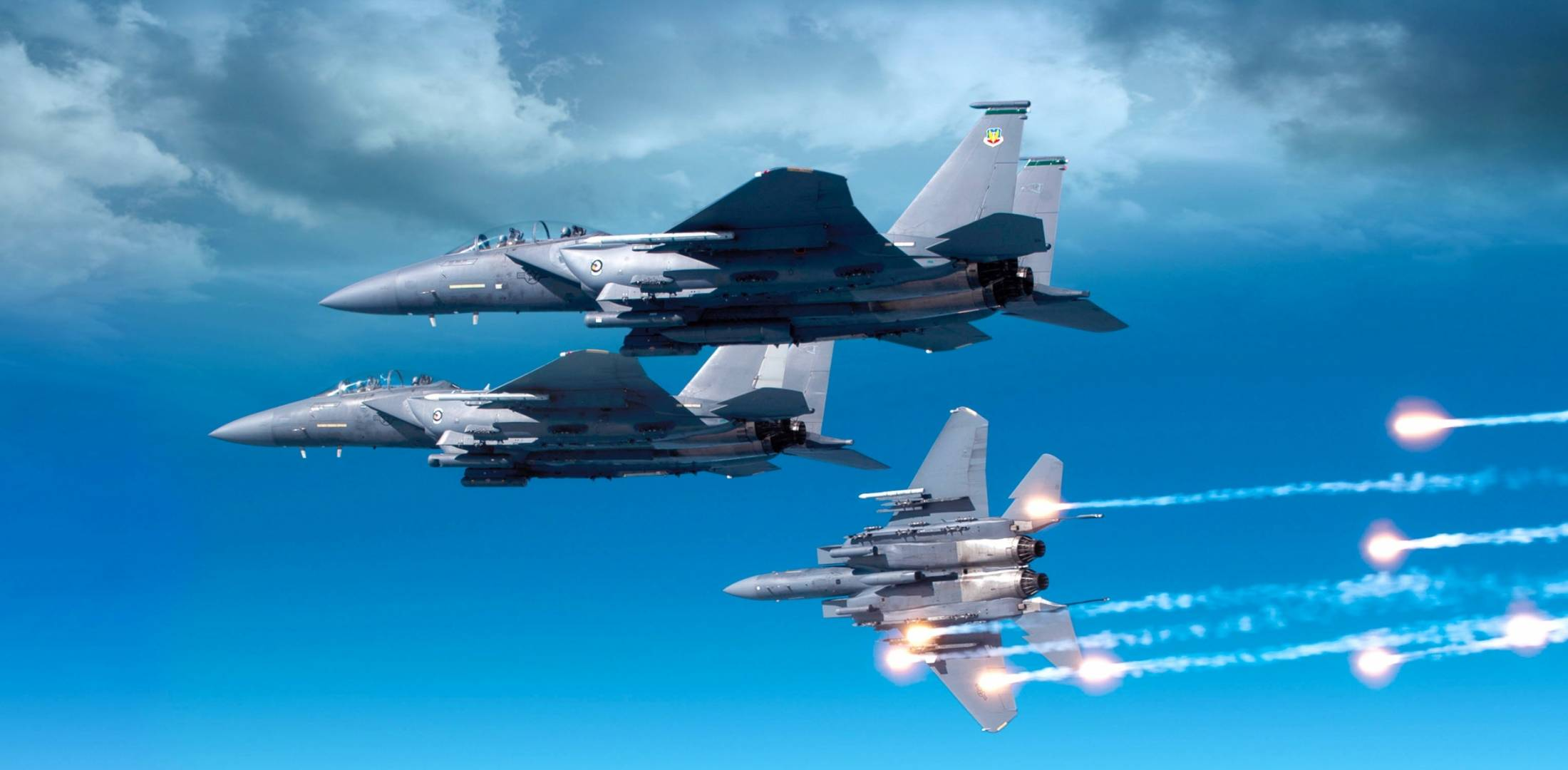 F-15s in flight