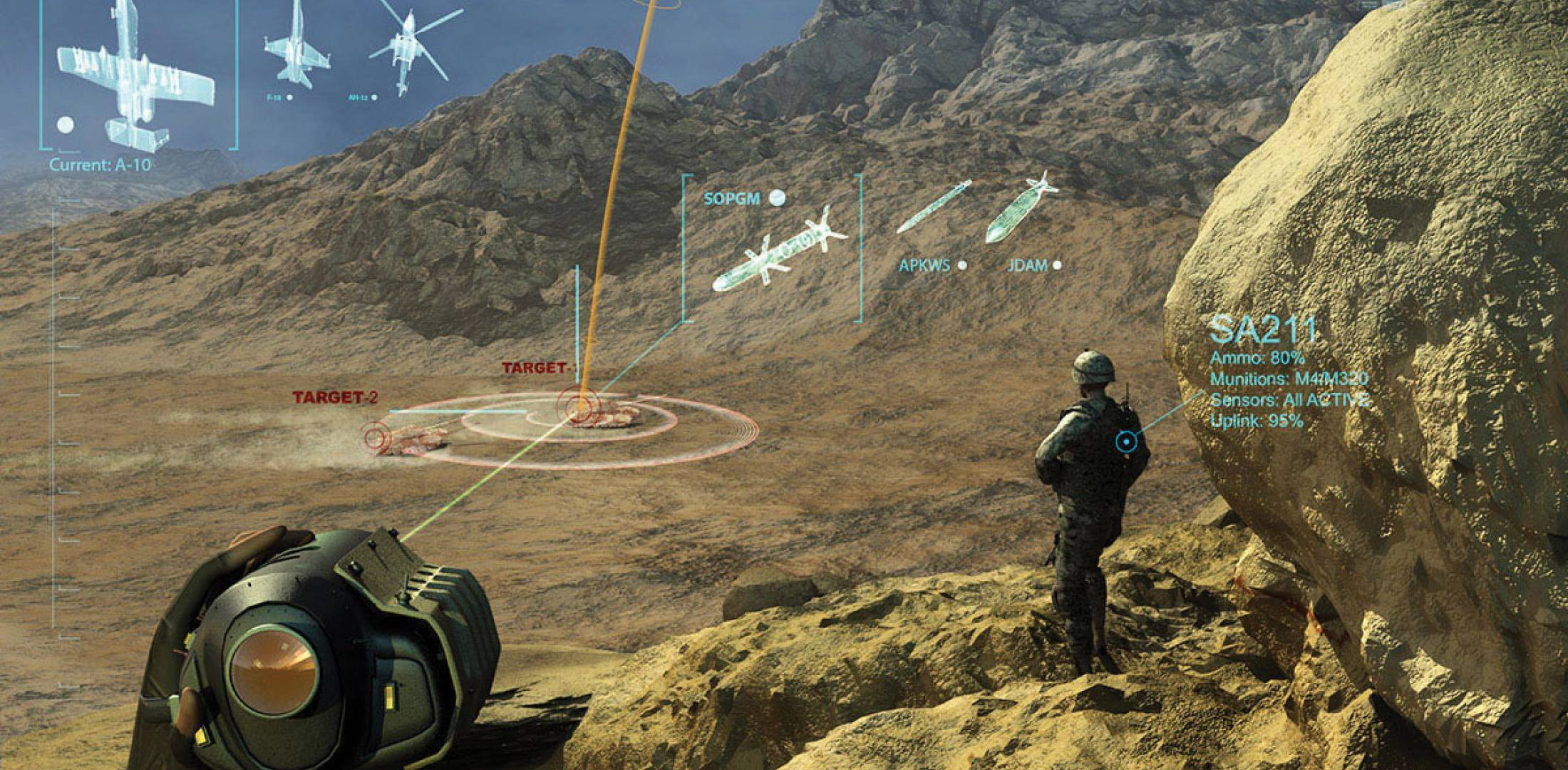 Persistent Close Air Support (PCAS) system