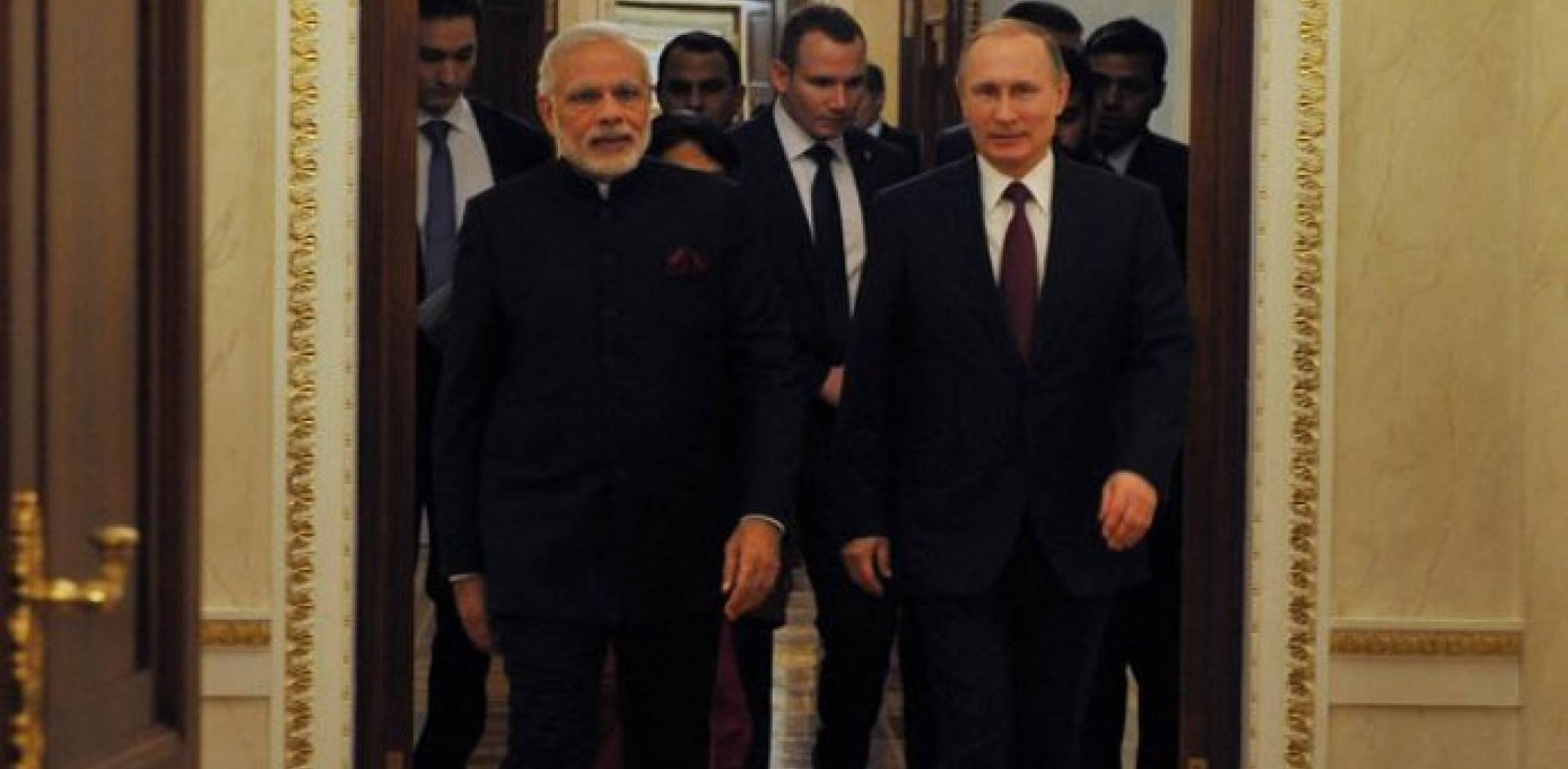 Indian Prime Minister Modi and Russian President Putin