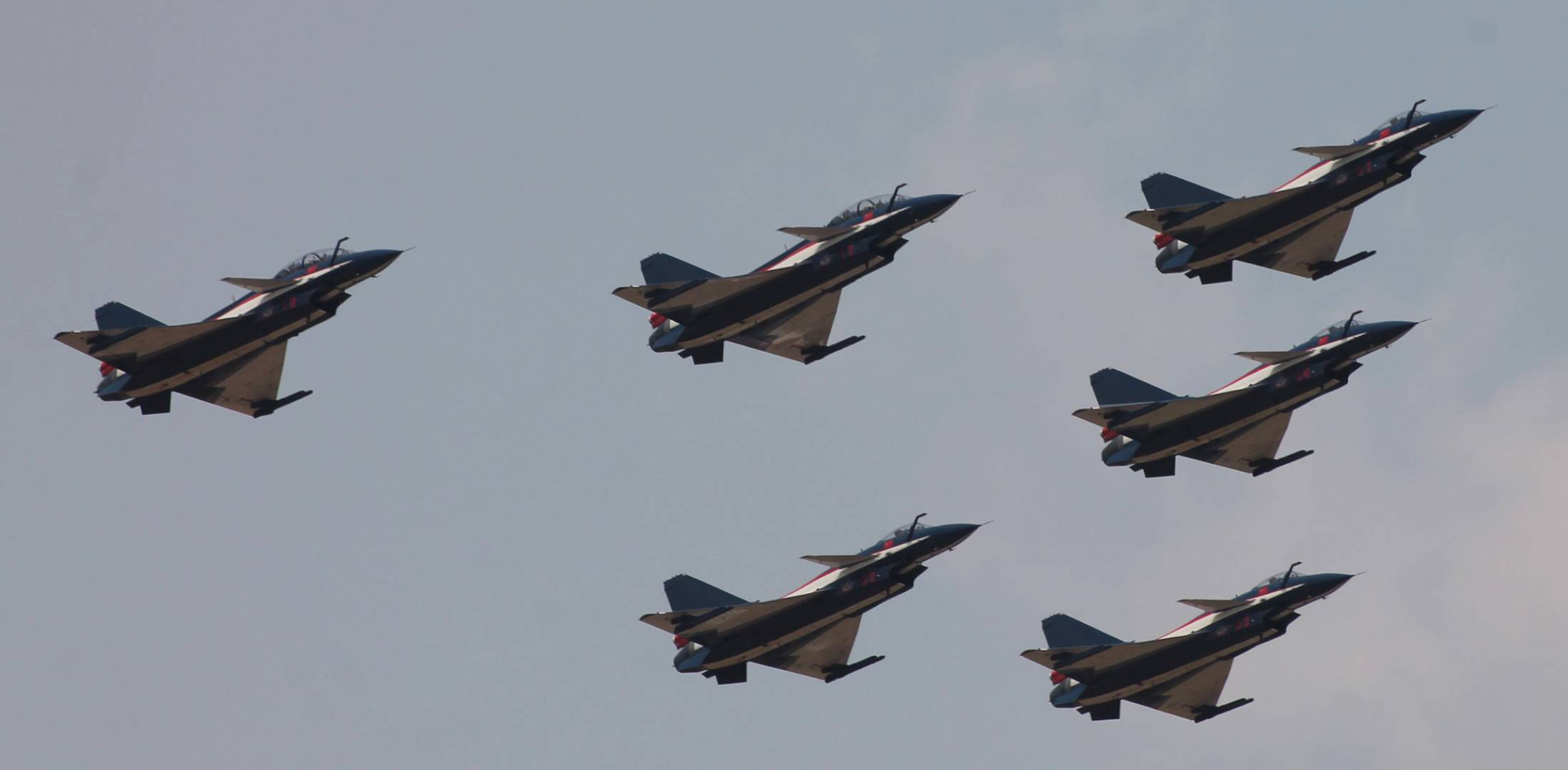 J-10 in formation