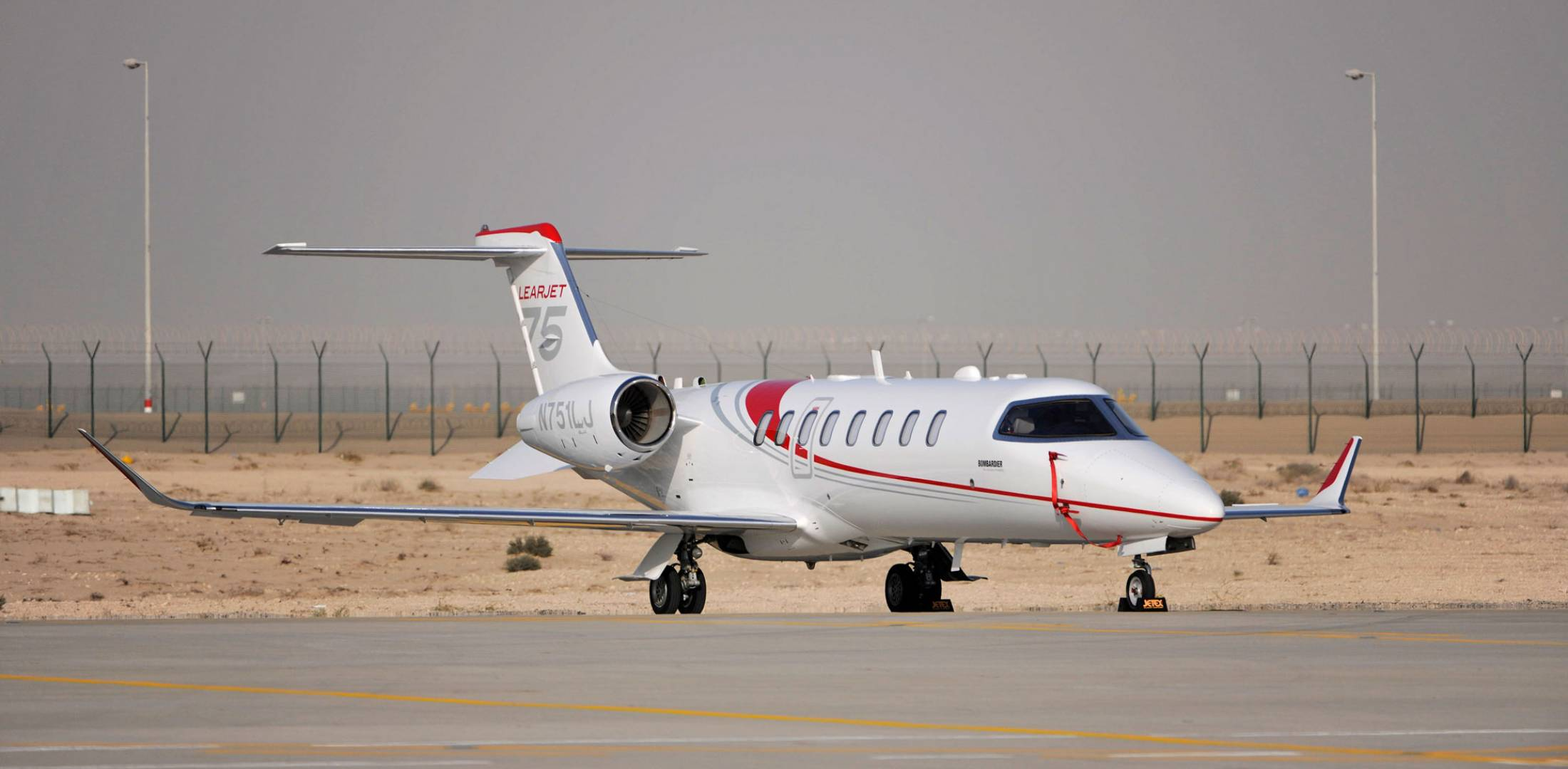 """Leading into the NBAA show, Bombardier had """"aggressive"""" marketing plans for its Learjet 75, as the company pondered whether the Learjet unit fit in with its long-term plans. Photo: Mark Wagner"""