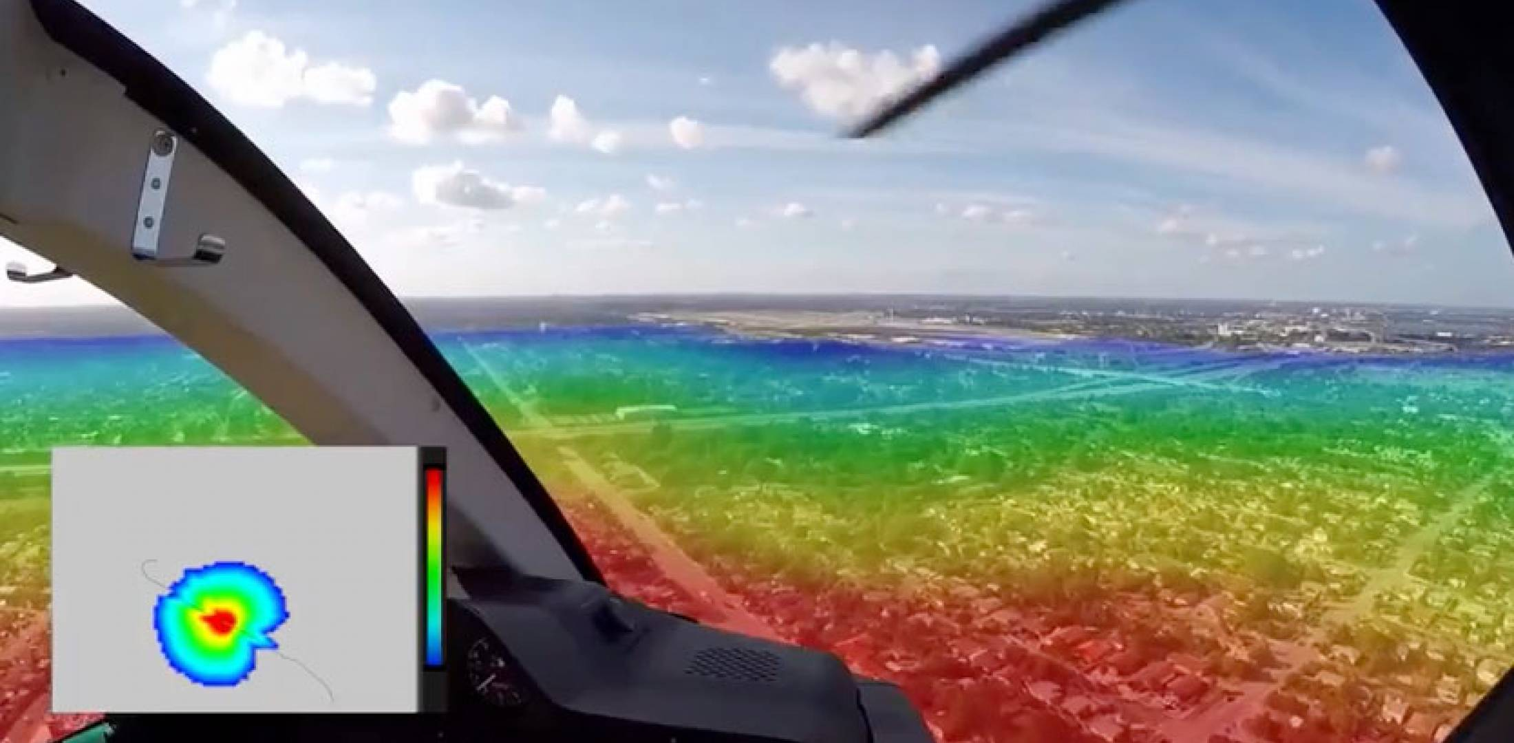 A video showing an experimental system that provides the real-time noise signature pattern for helicopters was played at the Fly Neighborly session yesterday here at Heli-Expo.