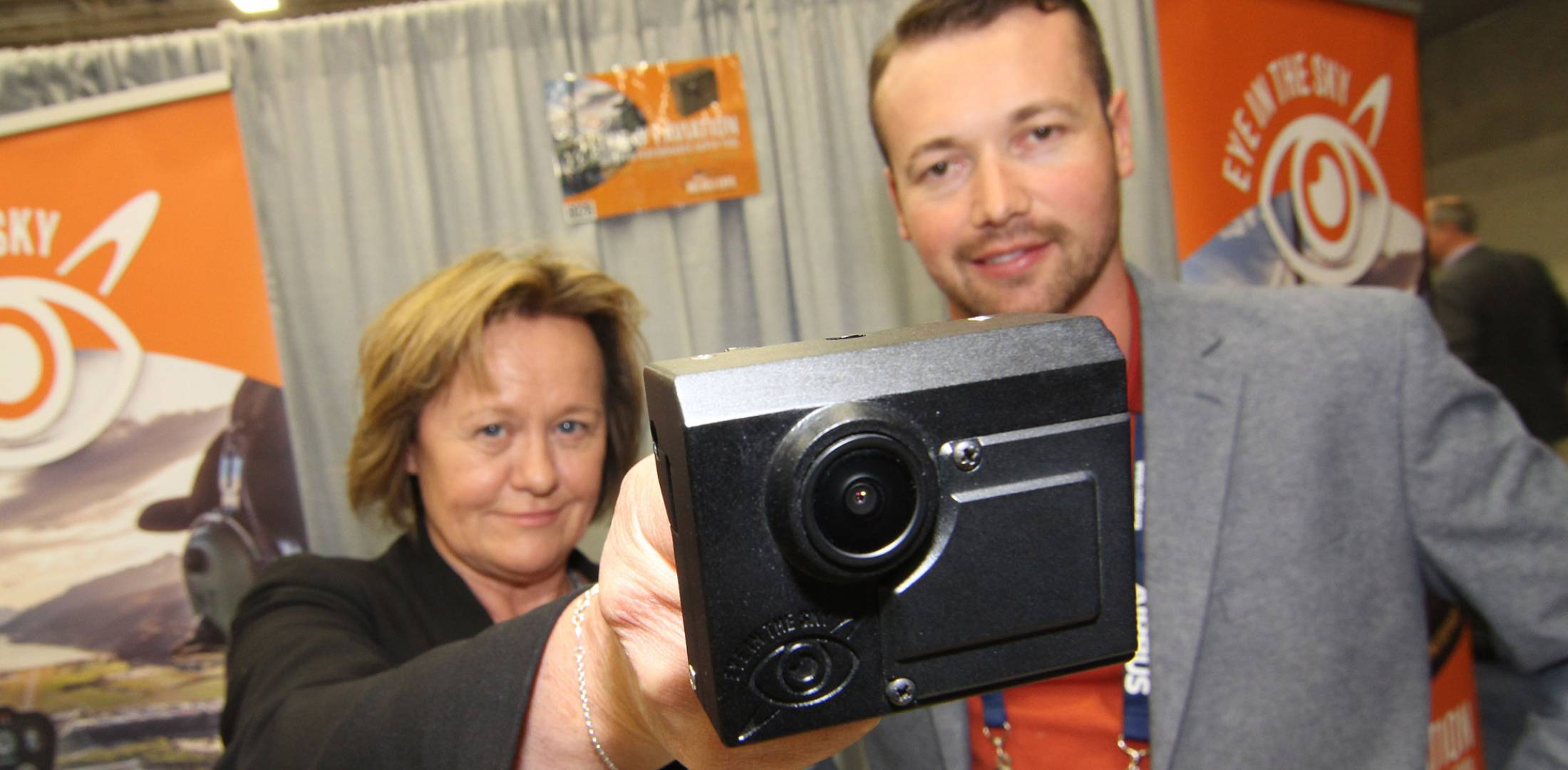New Zealand air-tour CEO Louisa Patterson (left) has developed an in-cockpit video recorder and started Eye in the Sky to market the device. Photo: Mariano Rosales