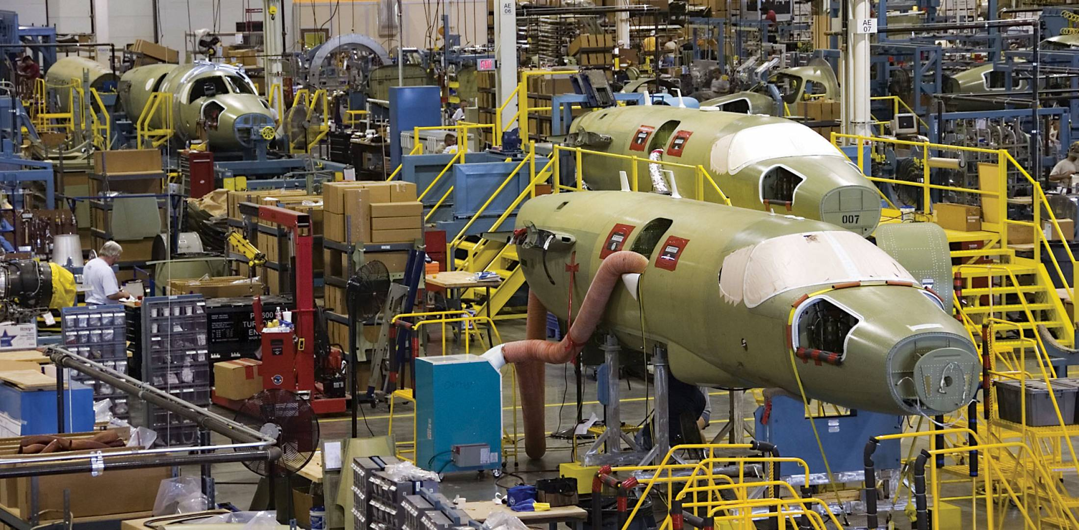 Mustang production line