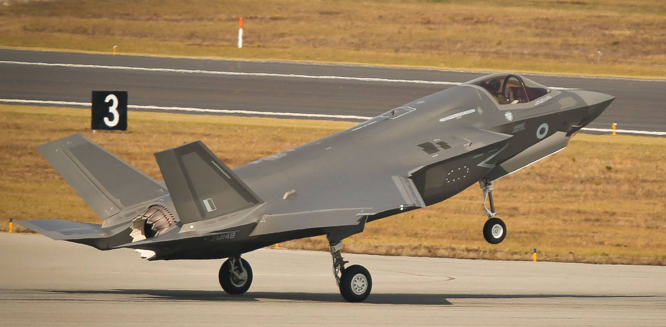 F-35B on runway