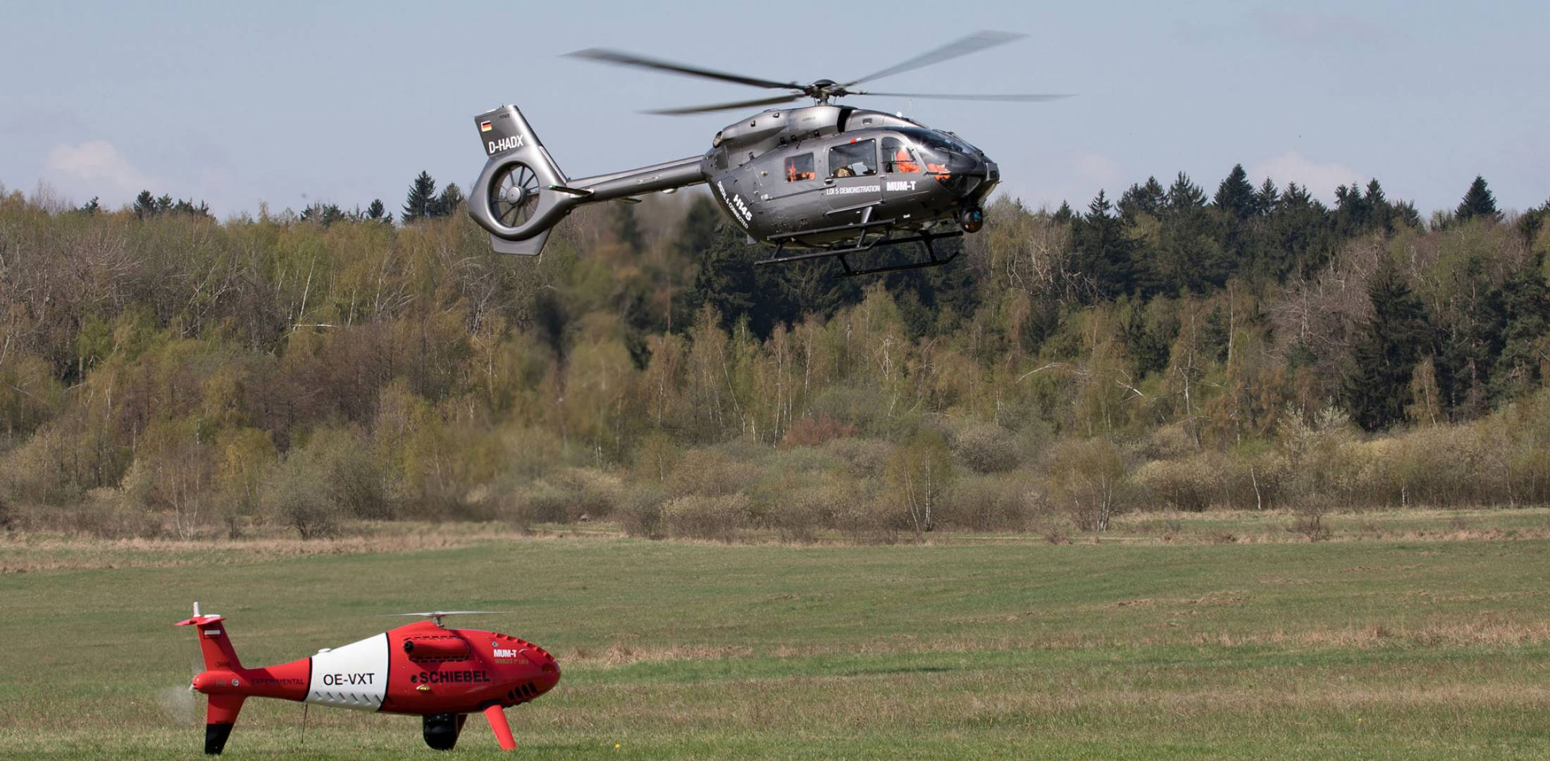 Airbus H145 and Schiebel Camcopter S-100