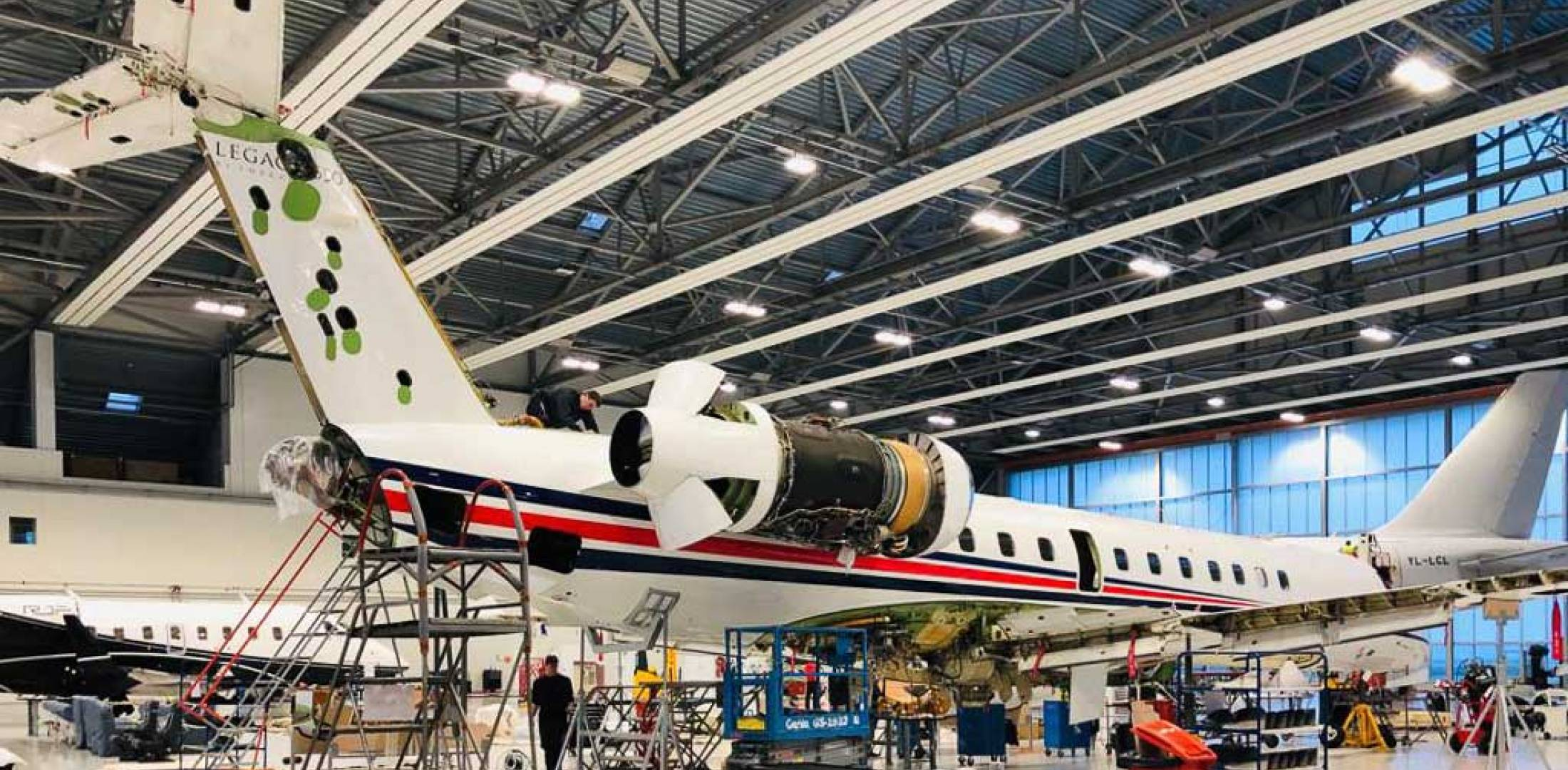 work on Embraer Legacy 650