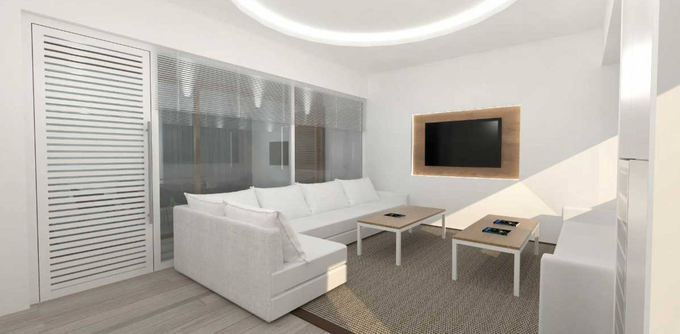 Artis rendering of planned lounge at Omni's Faro Airport