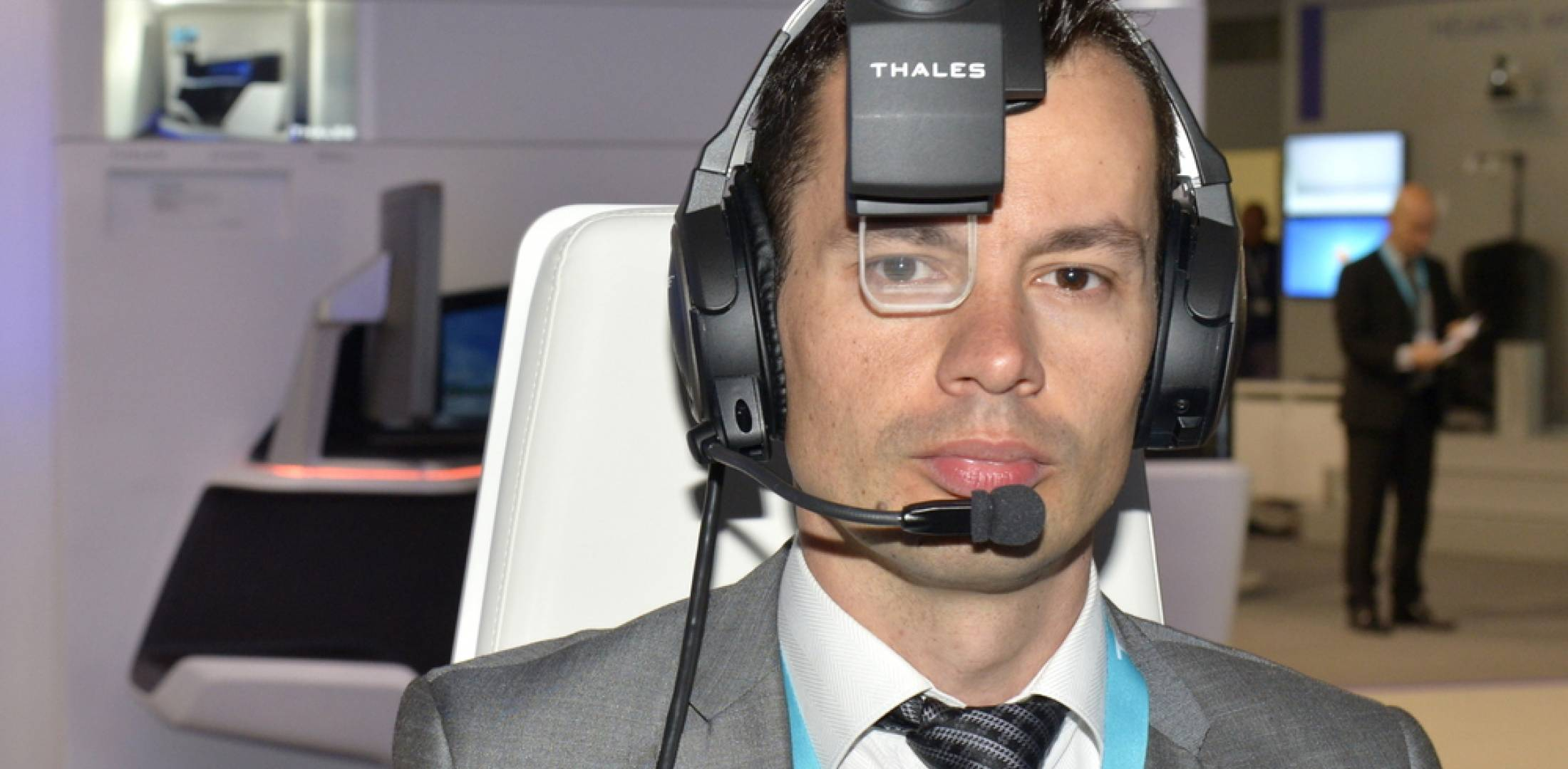 The Thales TopMax wearable HUD.  (Photo: Photopointcom©THALES)