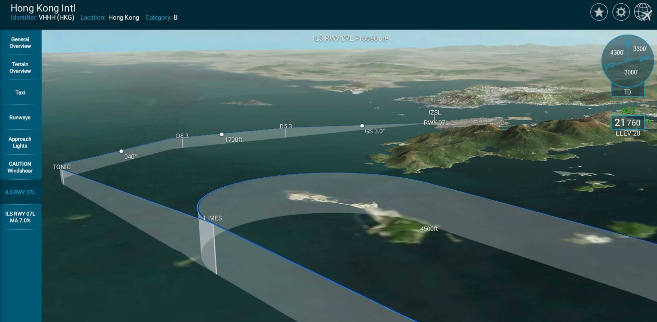 EVO Jet's 3D Airport Briefing tool