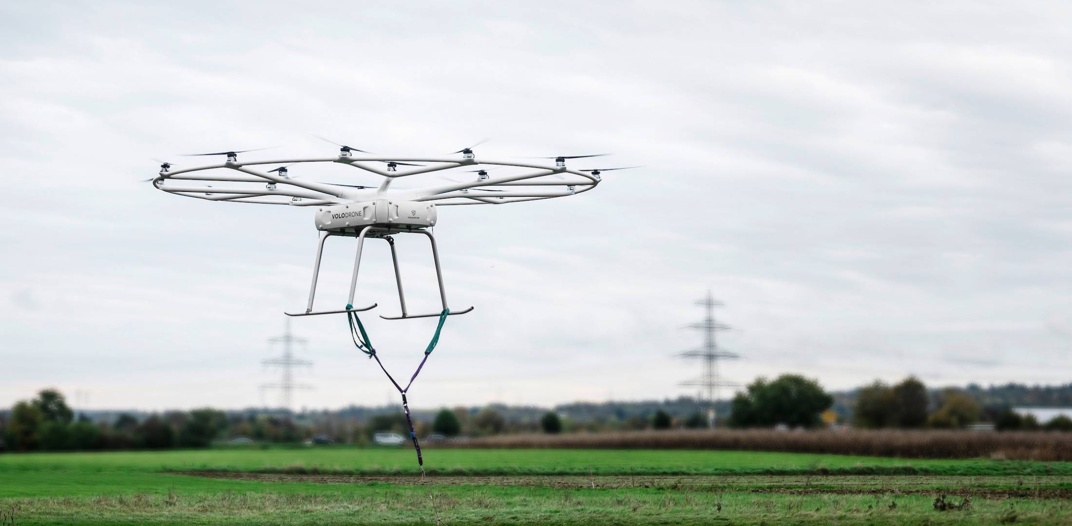 Volocopter's VoloDrone freight-carrying eVTOL aircraft.