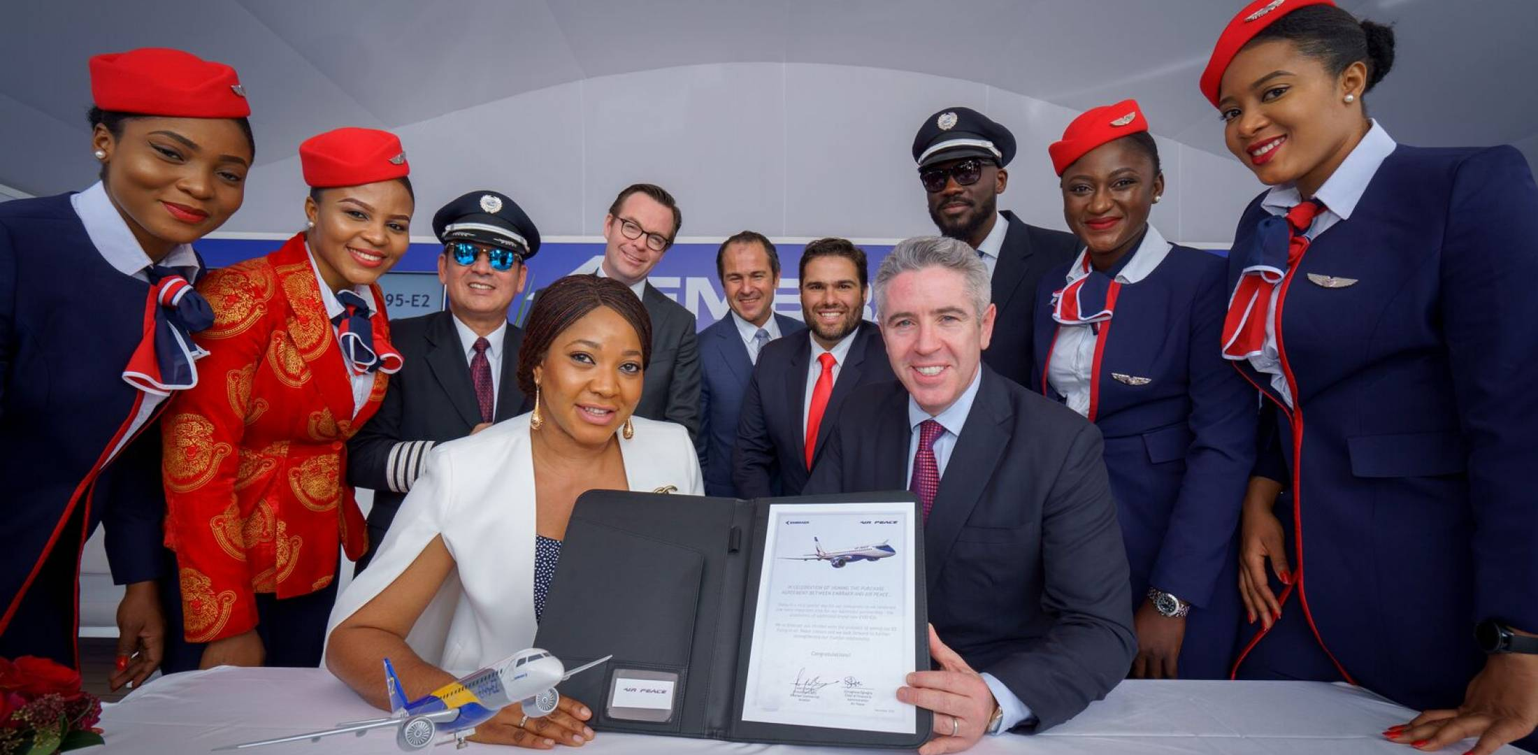 Air Peace Embraer signing