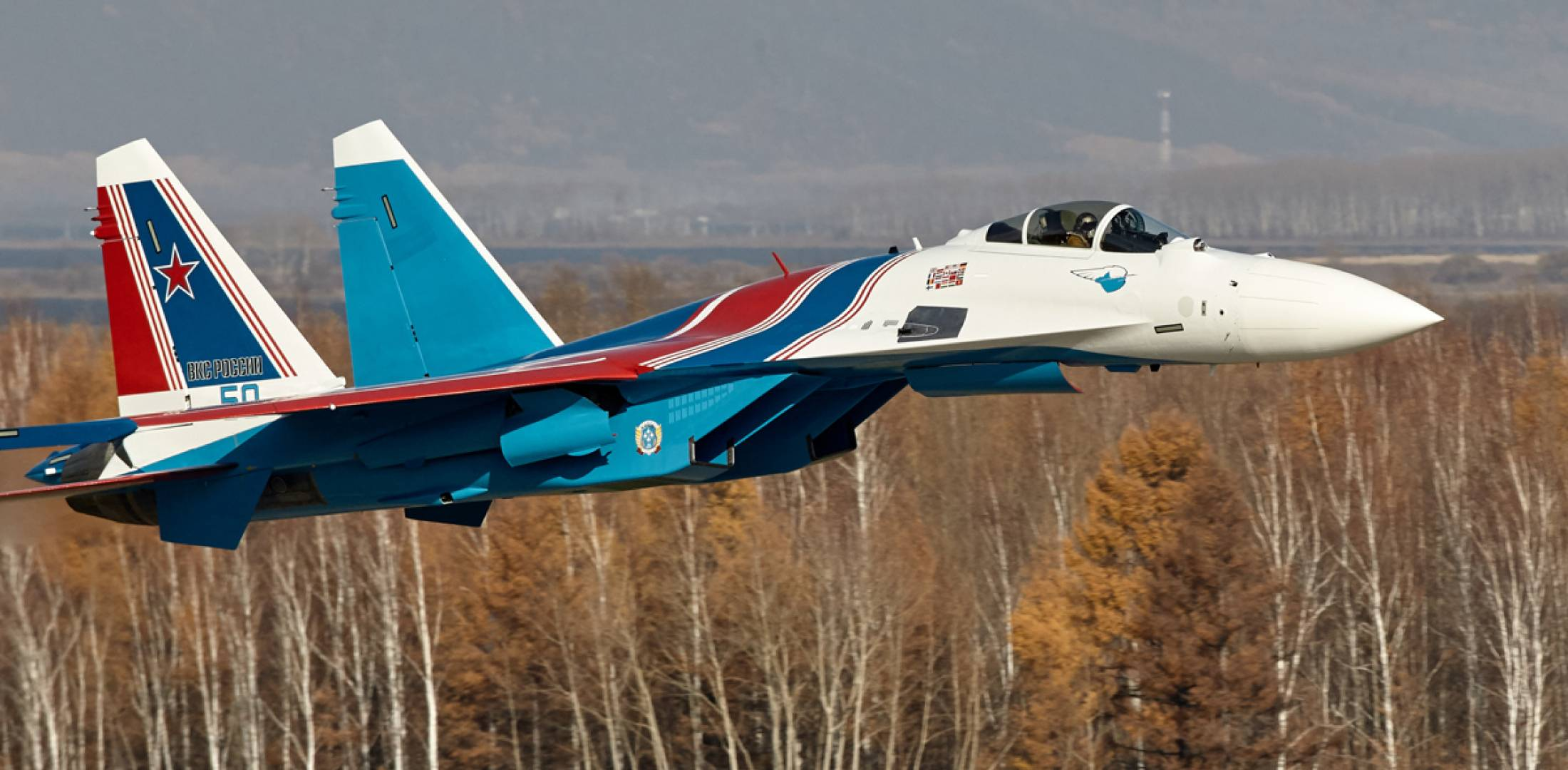 Su-35S in flight