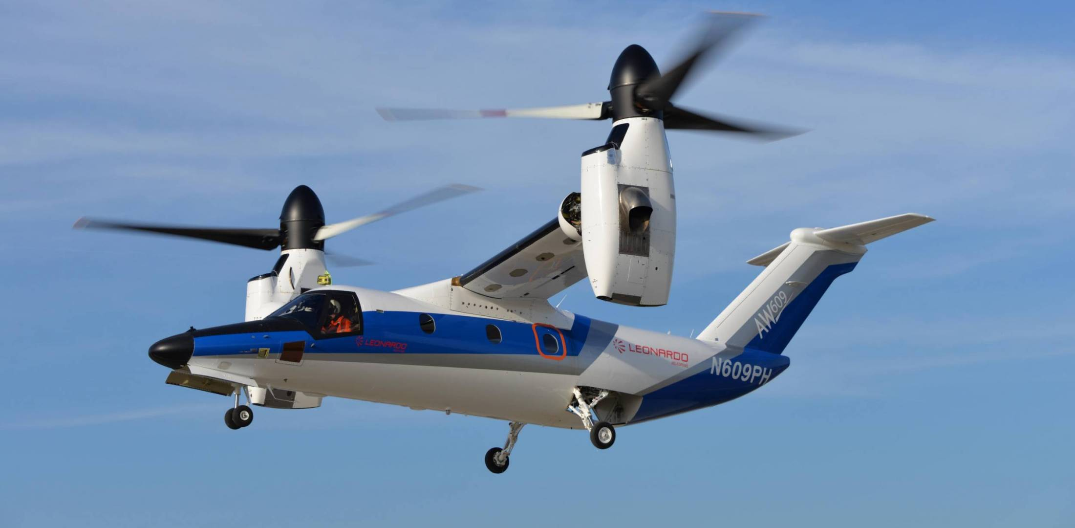 Fourth AW609 Prototype first flight