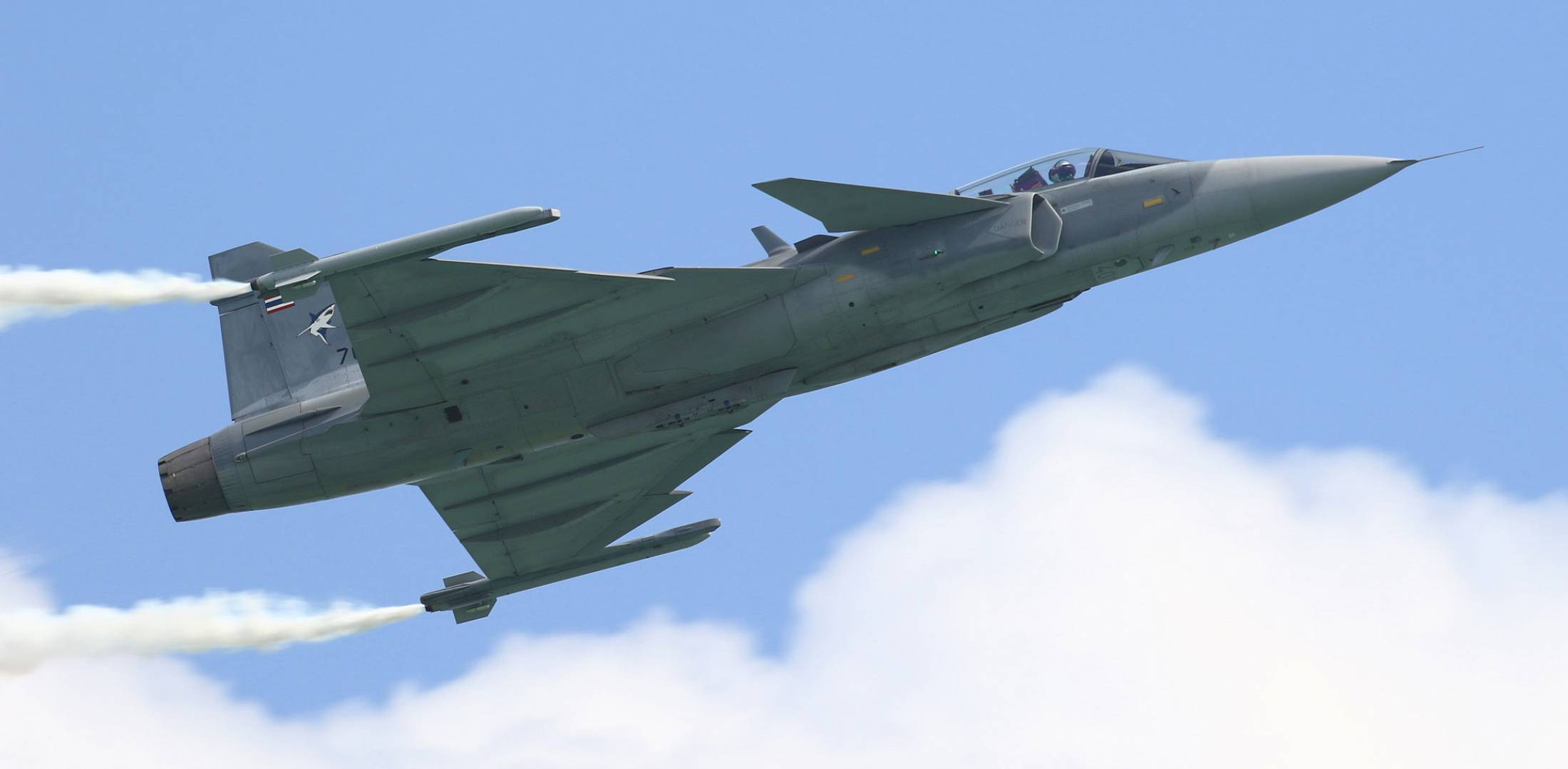 The Royal Thai Air Force (RTAF) debuted the Saab JAS 39C