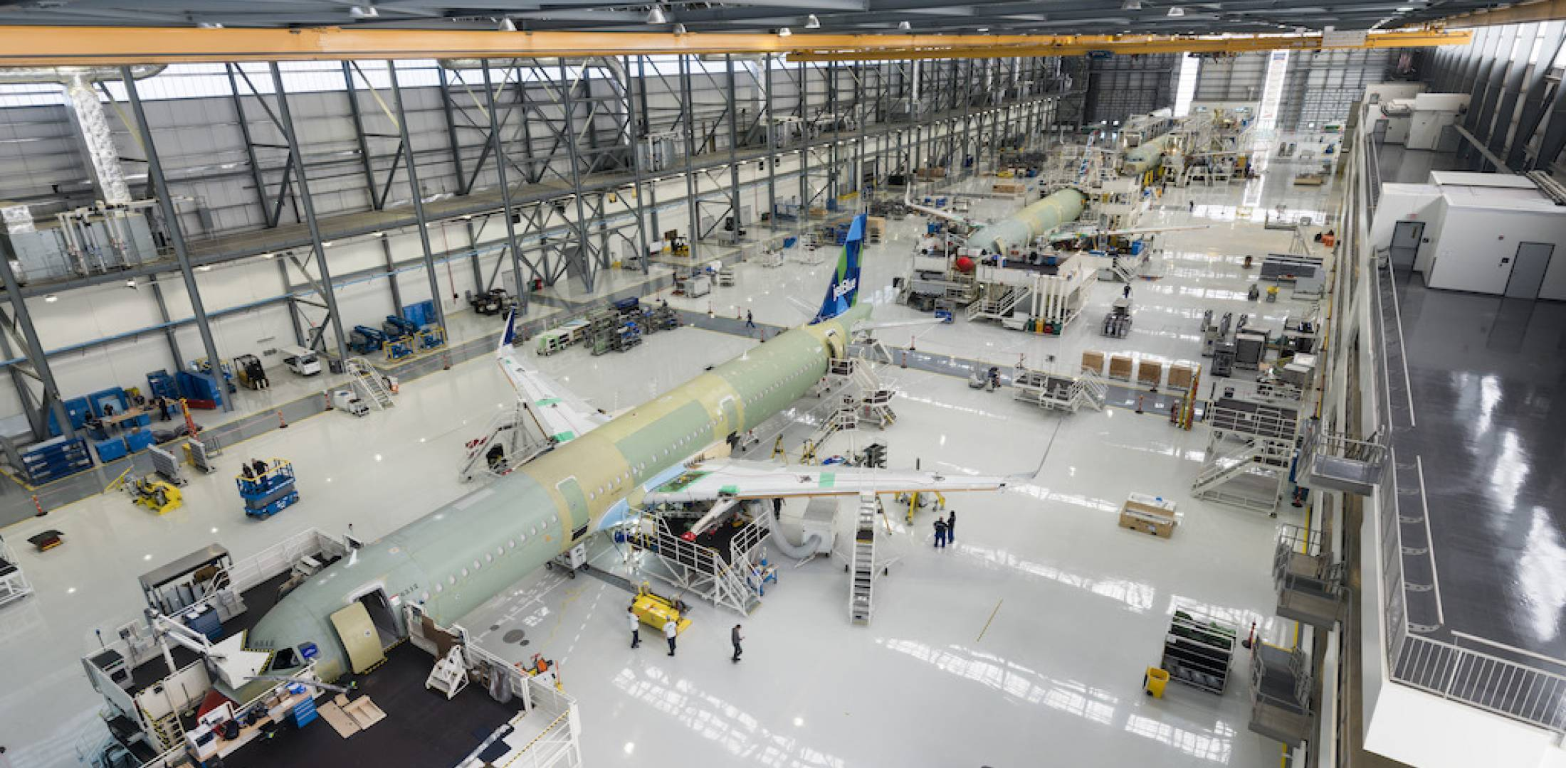 A320 on production line