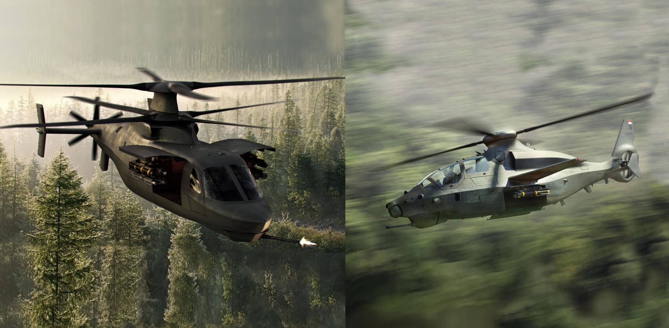 Sikorsky Raider and Bell 360 Invictus