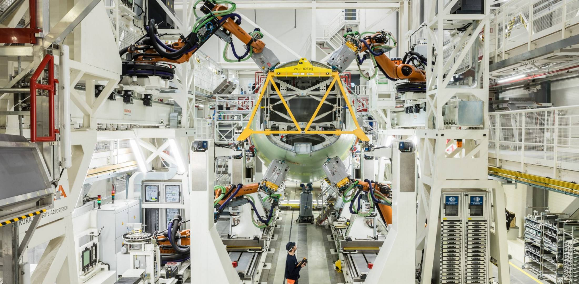 Airbus A320 structures assembly line