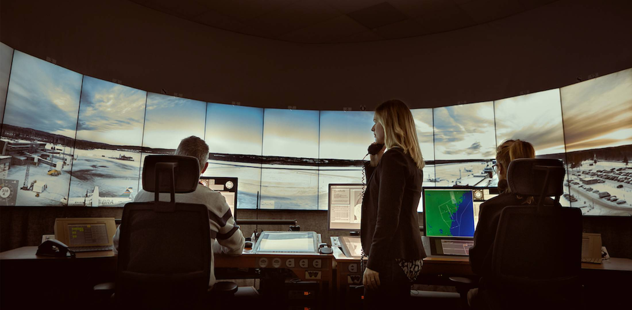 Saab tower control center