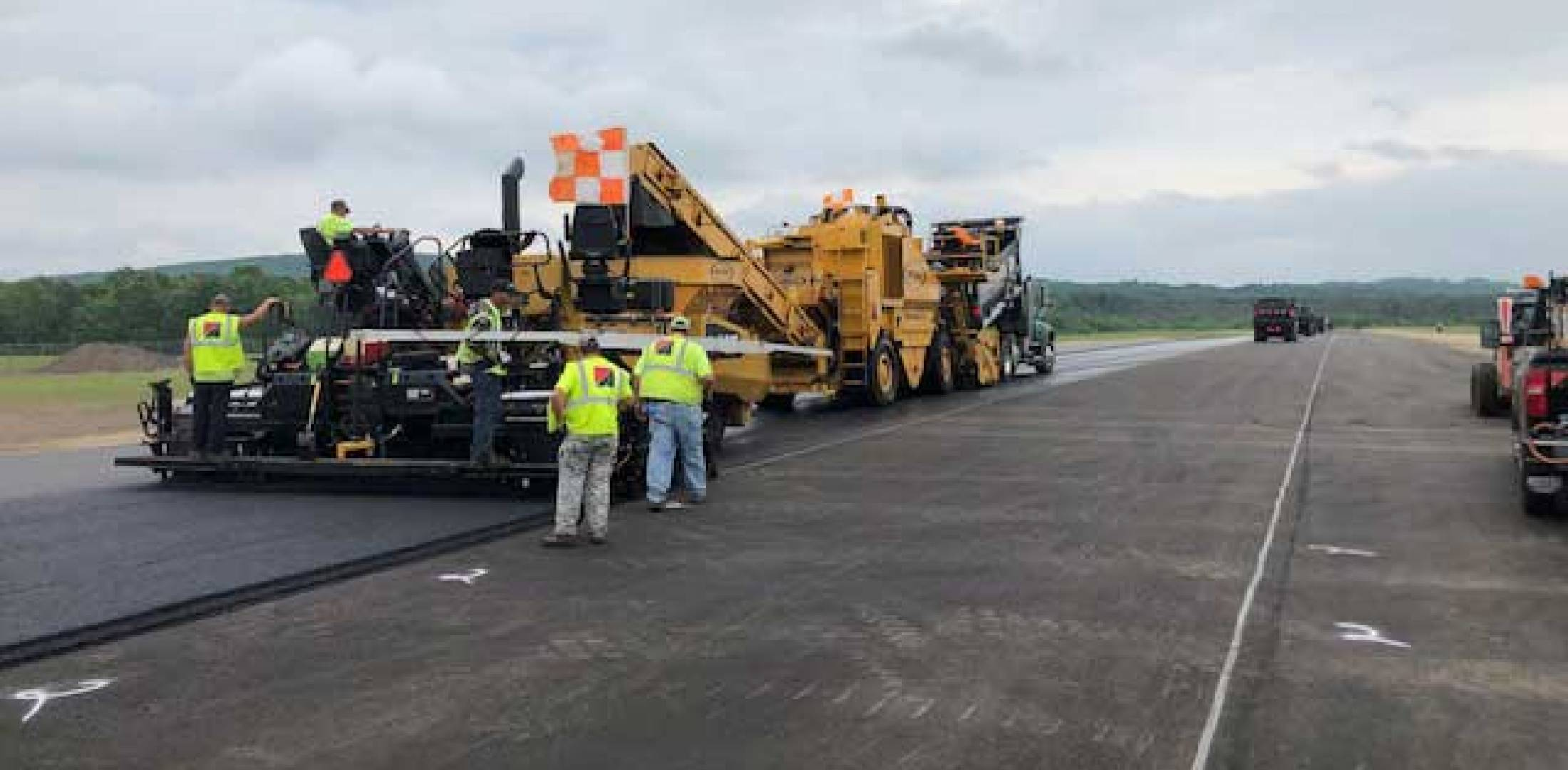 runway work at BAF