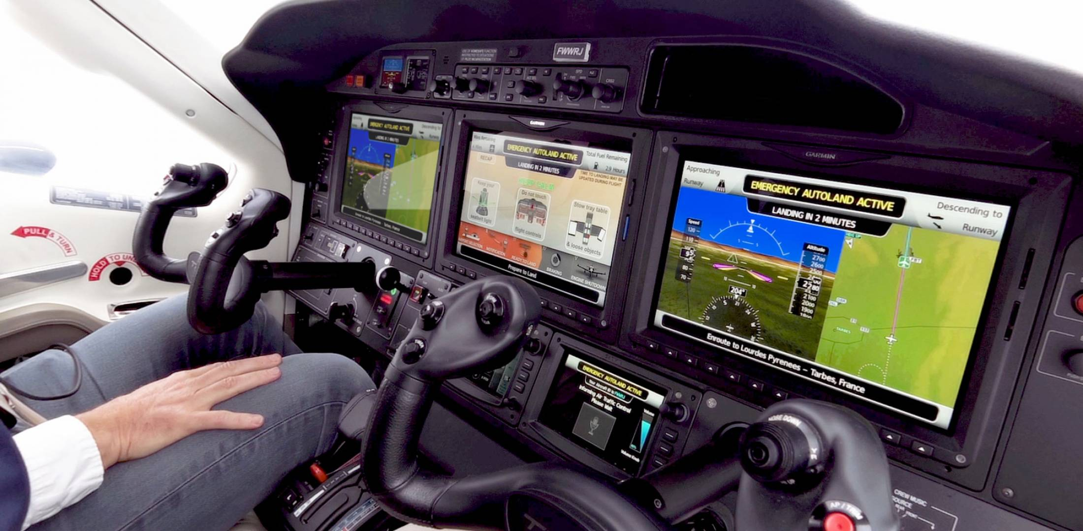HomeSafe autoland in Daher TBM 940