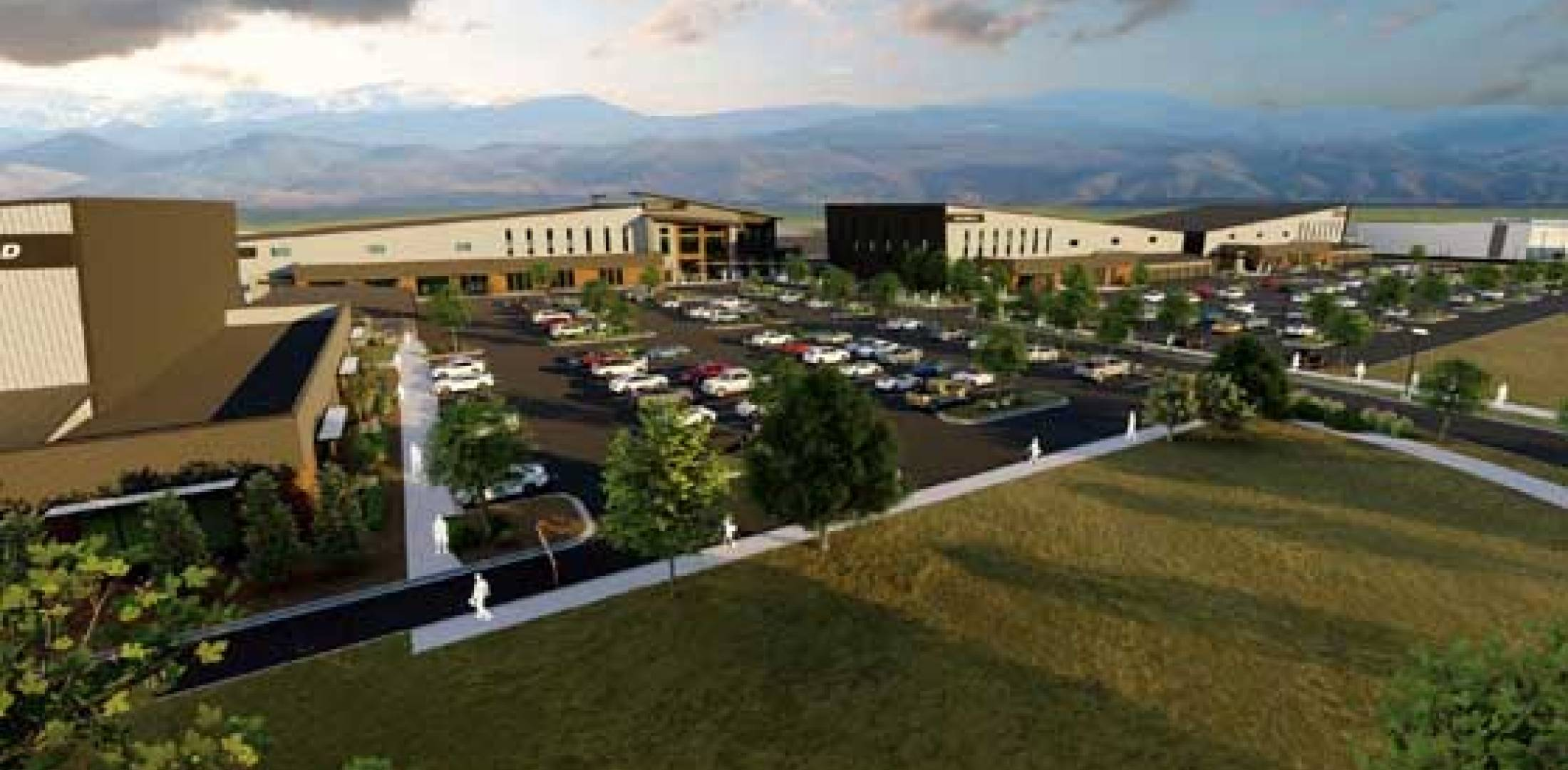 Artist rendering of Discovery Air campus at FNL