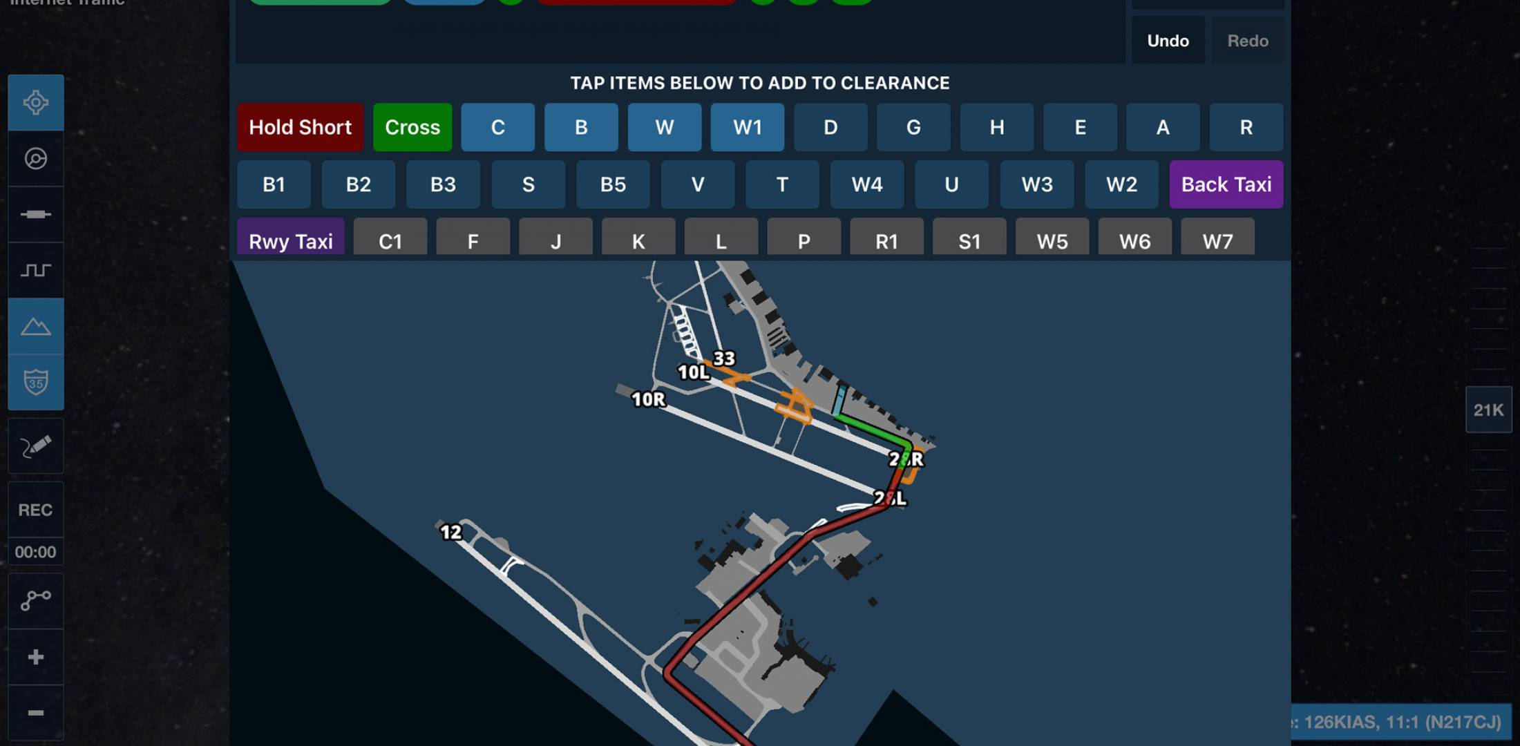 Taxi Routing feature in ForeFlight