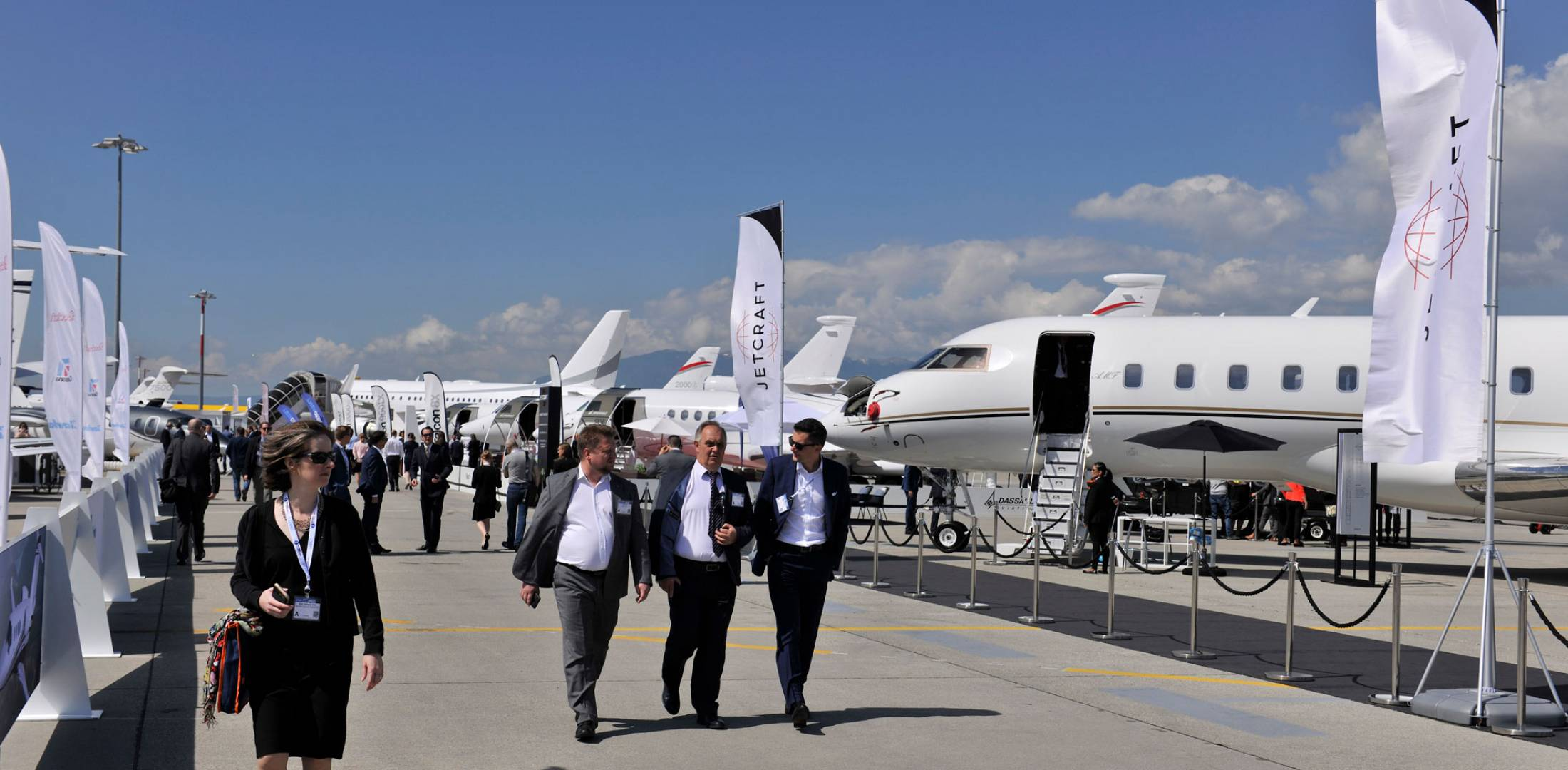 business jets for sale in static display
