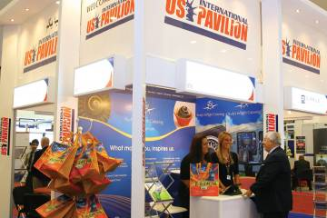 A first-timer at a MEBA show, the U.S. Pavilion is showcasing a range of goods and services available from 10 diverse U.S. companies.