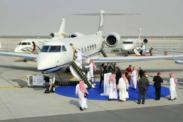 MEBA 2012 attracted more than 7,000 visitors who perused business aviation pleasures like this popular Gulfstream G550.