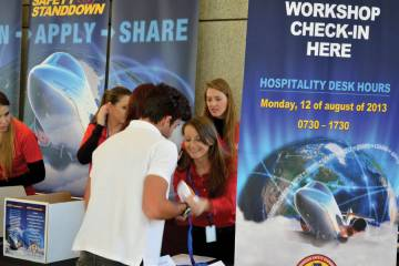 The check-in at the Bombardier Safety Standdown was busy with 325 preregistered attendees and 285 attending the first-day of the increasingly popular annual workshops.