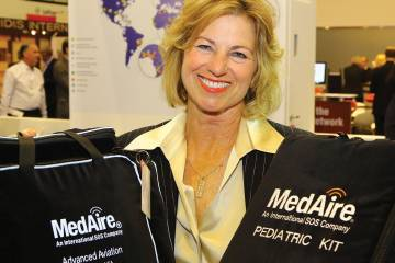 MedAire founder Joan Sullivan Garrett has innovated and expanded company offerings over three decades, serving the NBAA show with free cholesterol testing.