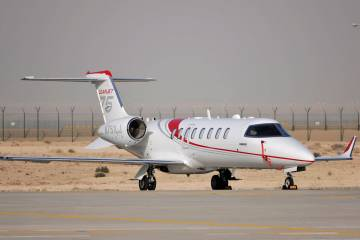 "Leading into the NBAA show, Bombardier had ""aggressive"" marketing plans for its Learjet 75, as the company pondered whether the Learjet unit fit in with its long-term plans. Photo: Mark Wagner"