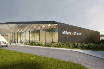 Artist rendering of the new FBO at Milan's Malpensa Airport