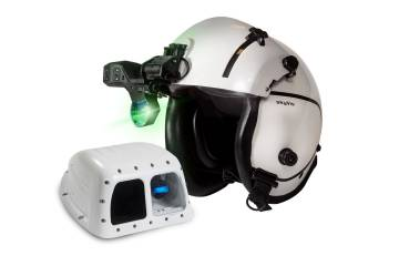 The Universal Avionics SkyVis helmet-mounted display and EFVS sensor.