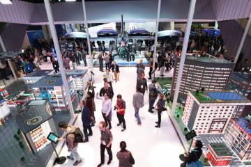 """Bell built an interactive """"smart city"""" at the CES show."""
